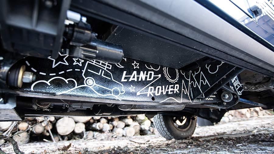 Underside of Arkonik Land Rover