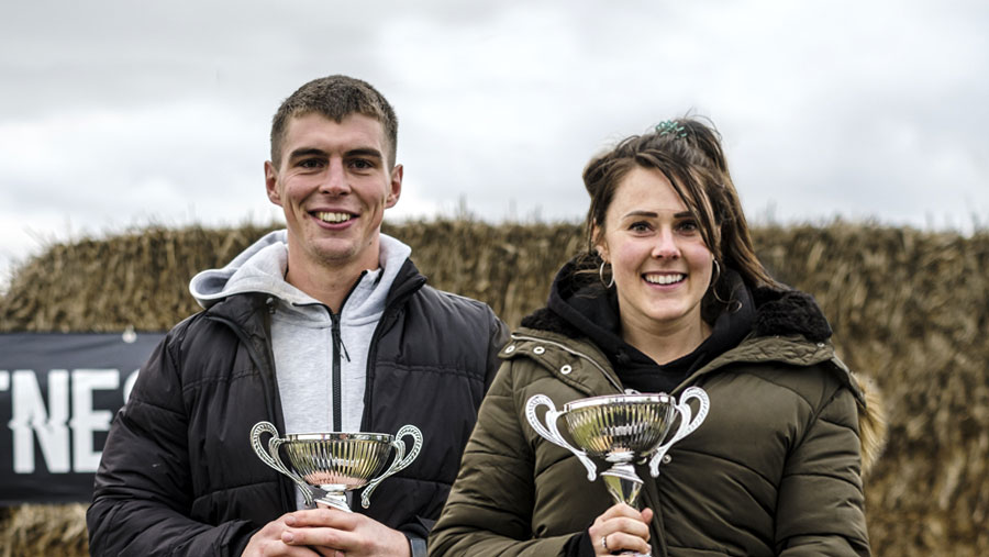 Britain's Fittest Farmer 2020 winners Emma Ashley and James Arney © MAG/Colin Miller