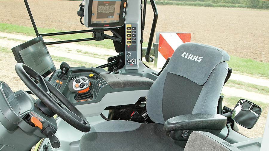 Claas tractor interior