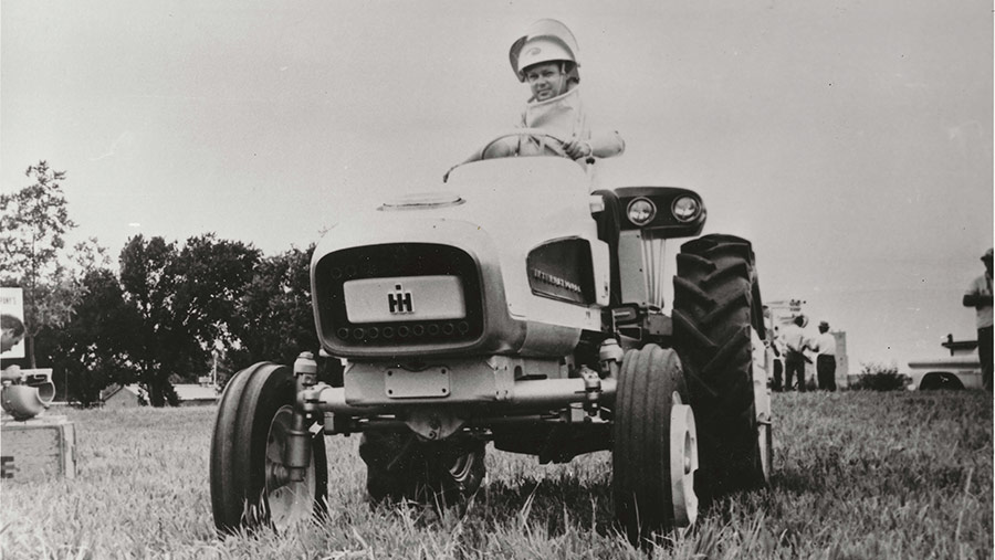 The HT 340 experimental tractor © Supplied by Mike Williams