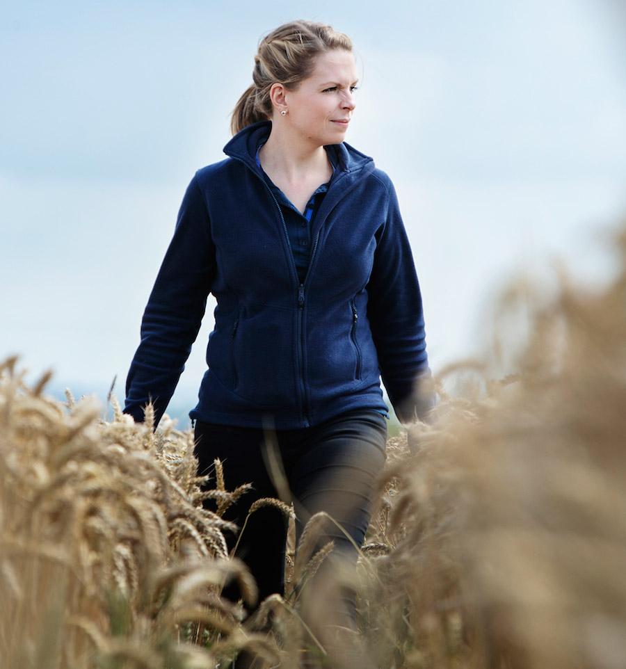 Cambridgeshire farmer Hannah Darby