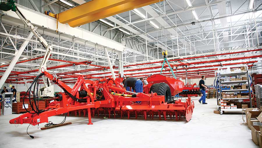 Kuhn cultivator drill assembly