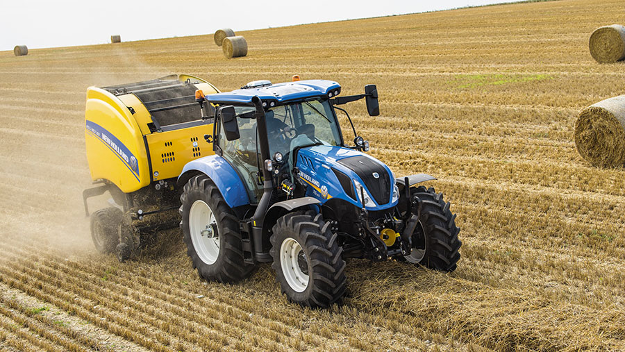 New Holland T6 in field