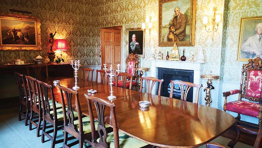 Micklefield Hall dining room