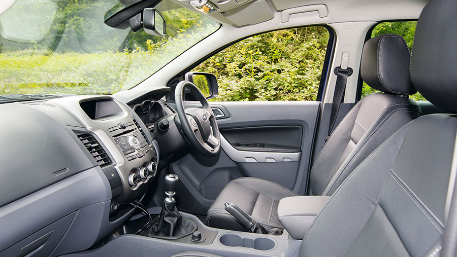 The interior of the Ford Ranger