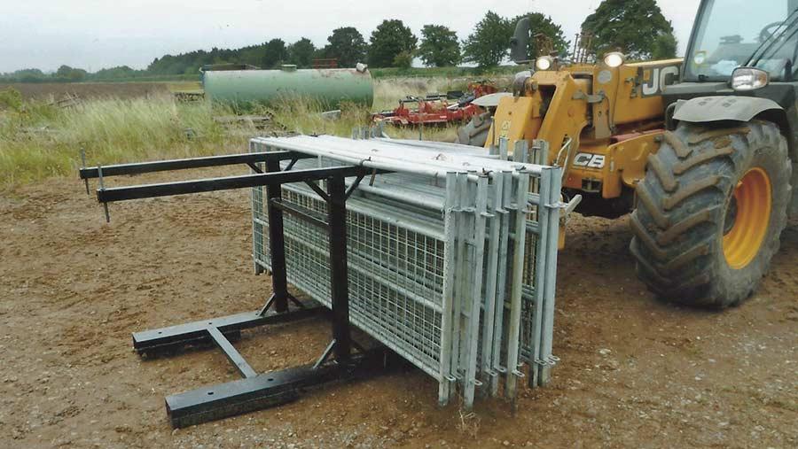 John Lord's gate storage frame