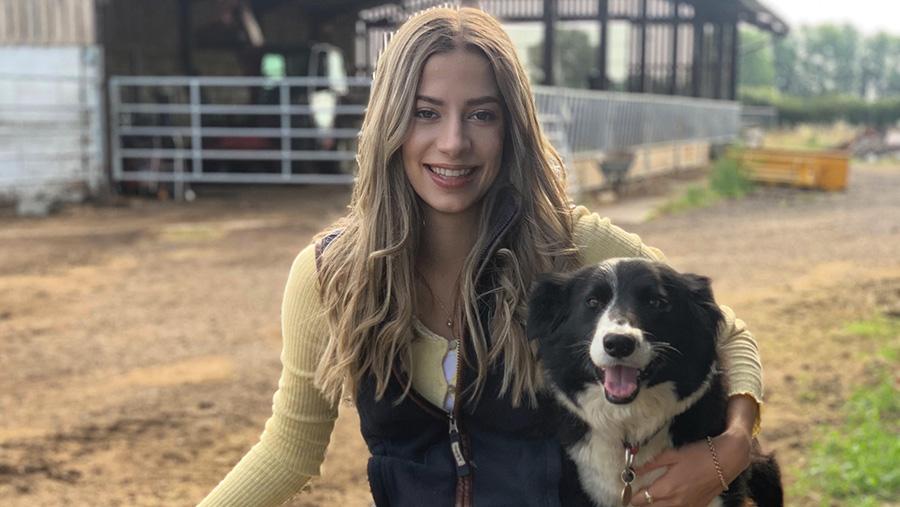 Josie Troop with sheepdog