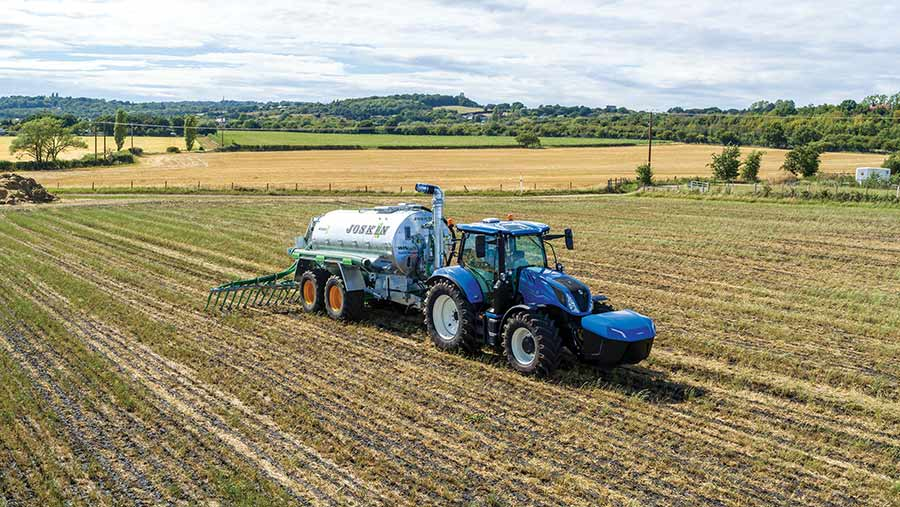 New Holland T6.180 methane-powered tractor