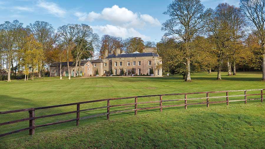 Horseheath Lodge and grounds