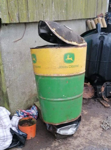The oil drum that exploded in Matthew Hoskins' face