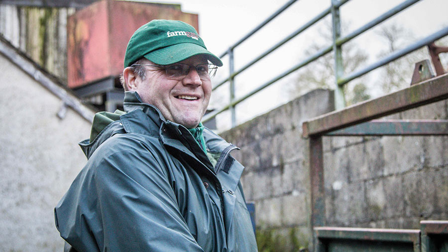Jim McKinstry on farm
