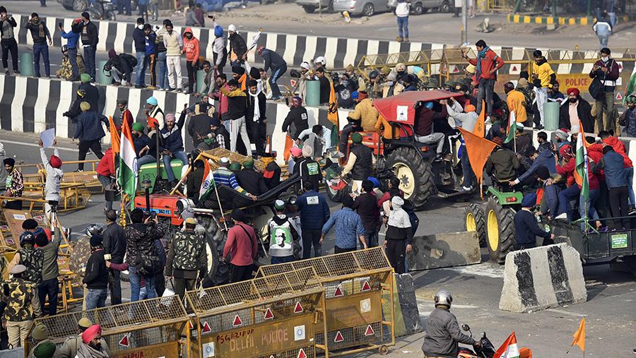 Indian farm protestors