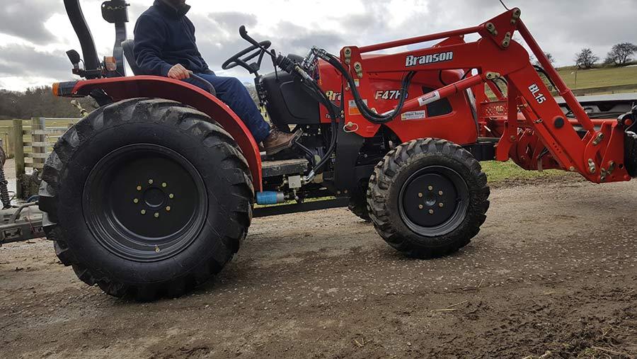 Branson scraper tractor