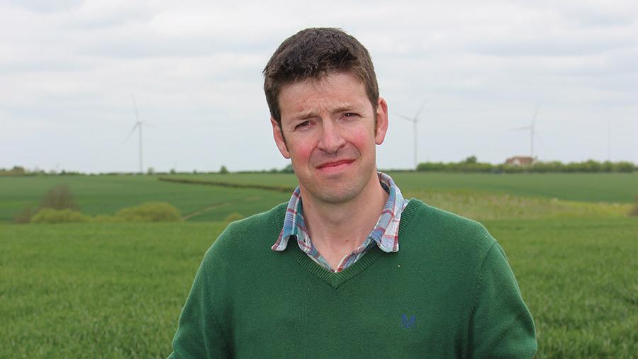 Farmer Ian Lutey