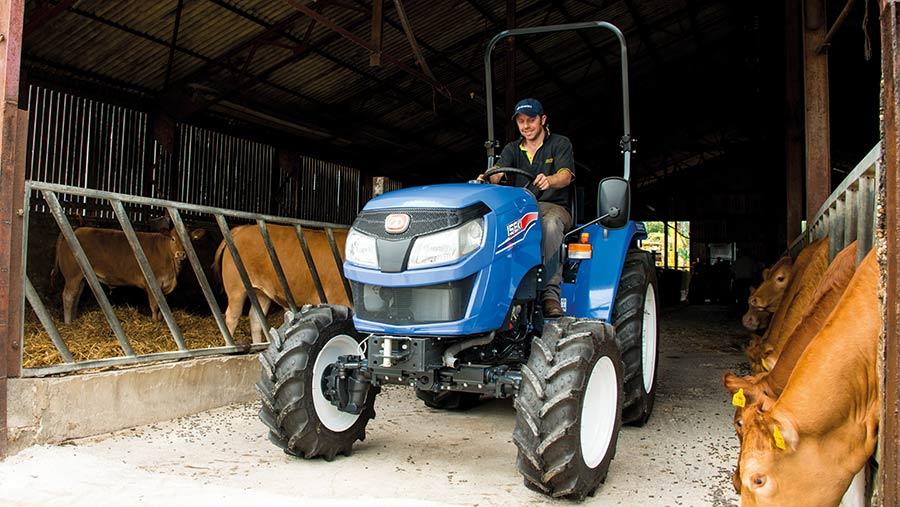 Iseki scraper tractor