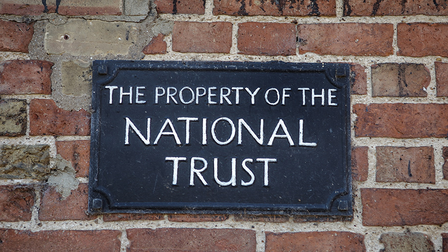 National Trust farm sign