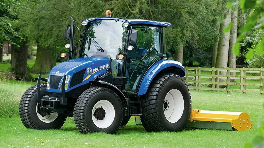 New Holland scraper tractor