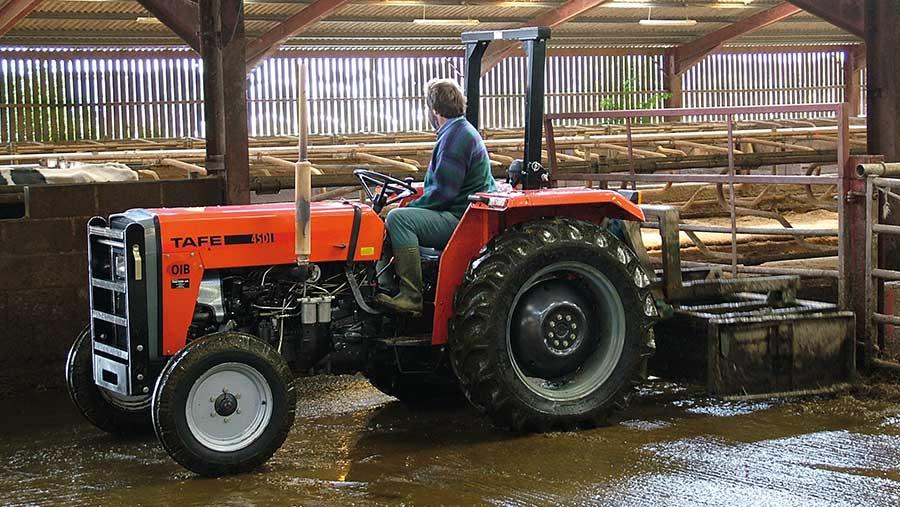 Tafe scraper tractor