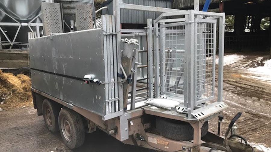 Sheep-handling trailer