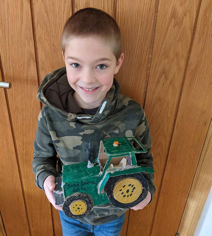 Evan Reed and tractor model
