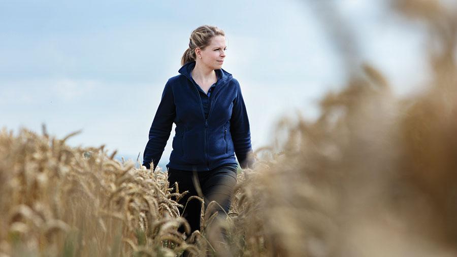 Hannah Darby in field