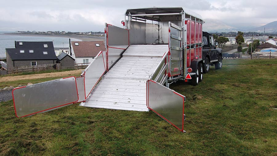 Rear of the pig trailer