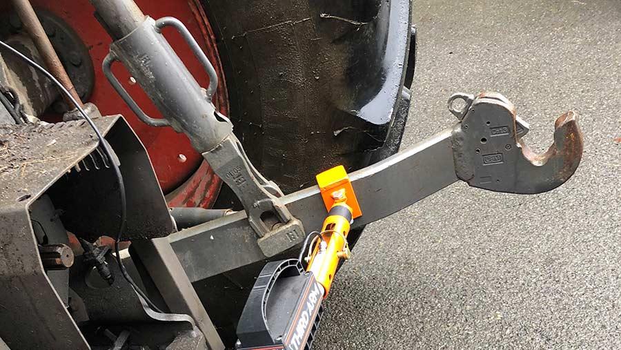 Philip Dickson's hitch adjuster