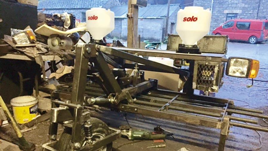 Seeder harrow in the workshop