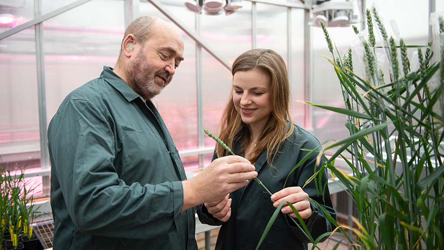Prof Nigel Halford and Sarah Raffan © Rothamsted Research