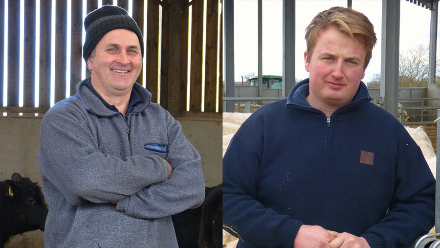 Mark Gale, Baytree Farm, and Leo McCourt, Northfield Farm