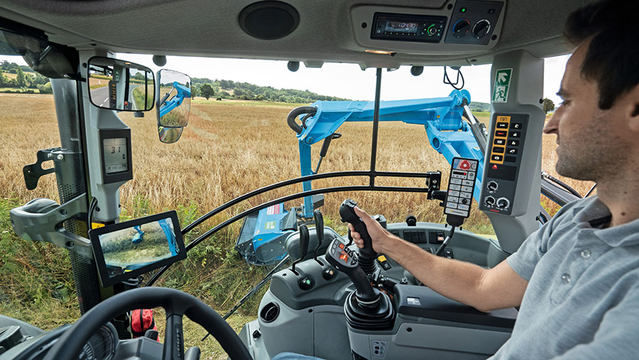 The interior of the New Claas Arion 400