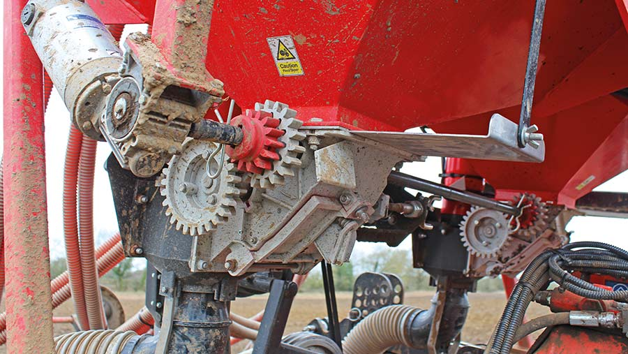 Bramley drill metering system