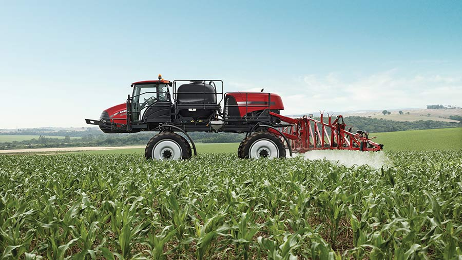 The first iteration of Greeneye's spot-spraying system will be fitted to a Case-IH Patriot sprayer this year © Case-IH