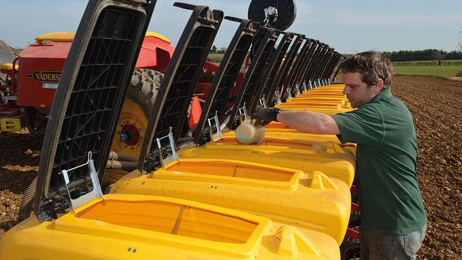Filling the seed drill