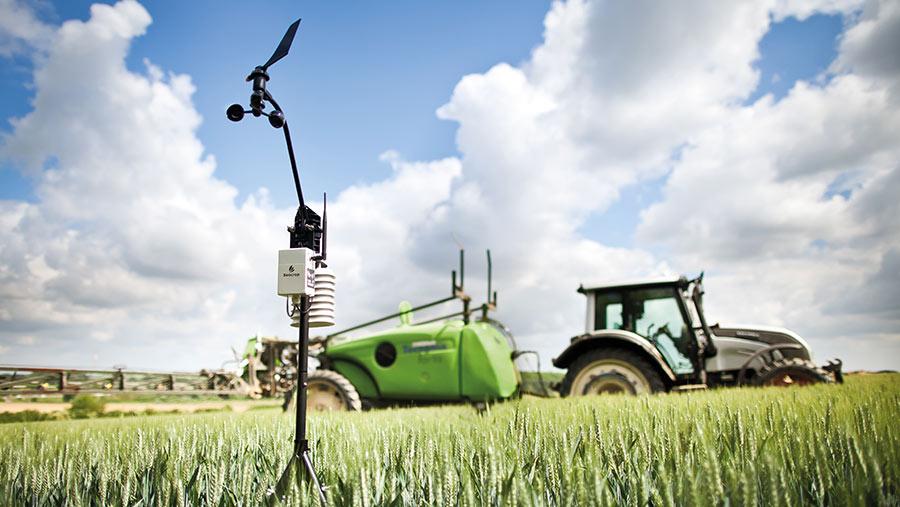 sensor in field