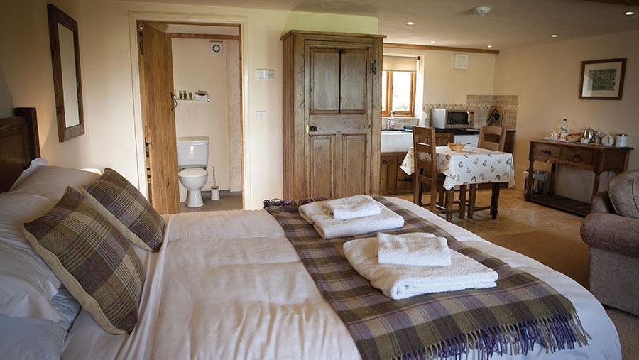 Blackmore Farm bedroom with en suite