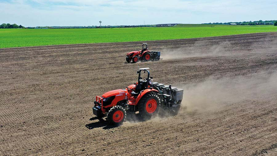 automated tractors in field
