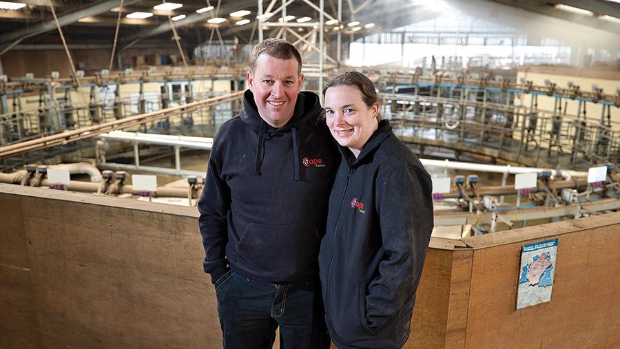 Farmers Steve and Carolyn Cope