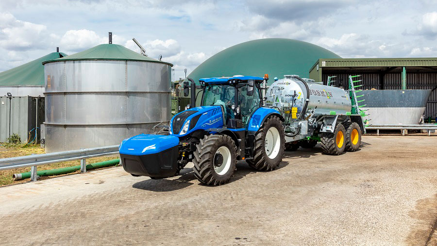 Tractor with storage box at the front