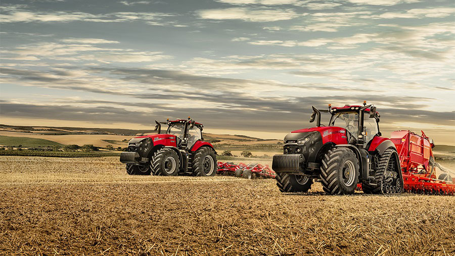 Drilling with two tractors