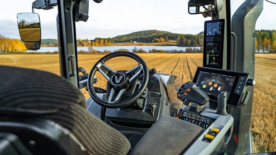 Valtra T-series cab interior