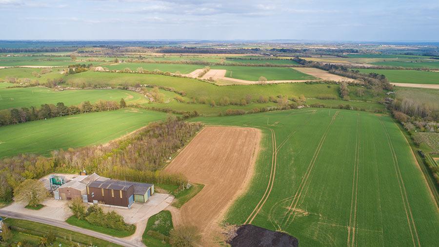 Woodstock farmland at Blenheim Estate