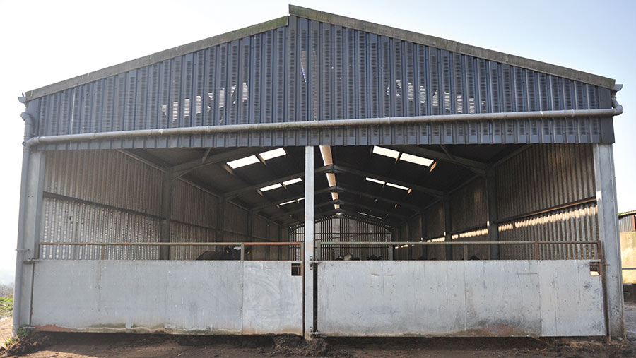 open side of shed