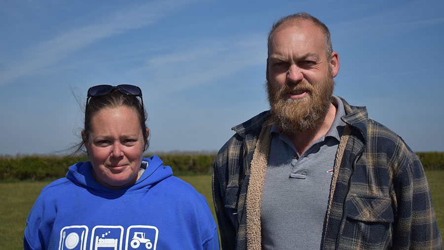 Rachel Edwards and Richard Walker © Farmers Union of Wales