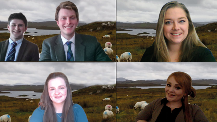 The 2021 Farmplanner of the Year winners: The Scotland's Rural College (SRUC) team