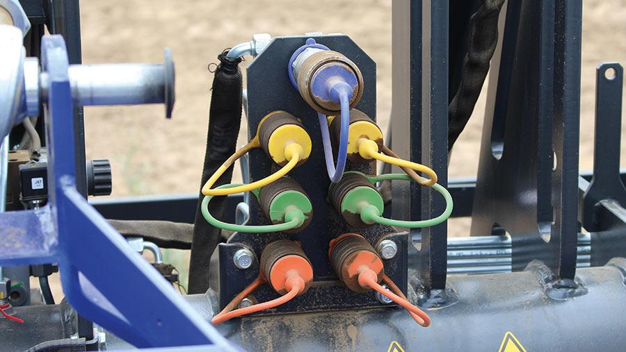 Spool valve connection