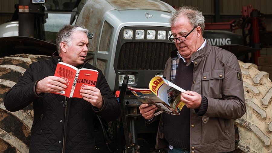 Farmers Weekly's Johann Tasker and new farmer Jeremy Clarkson © MAG/Colin Miller