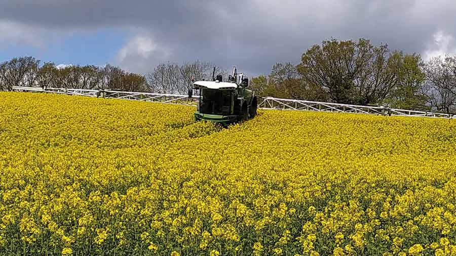 Fendt Rogator 645 in field