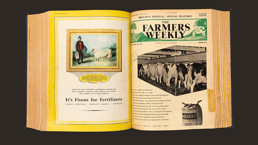 Old edition of Farmers Weekly