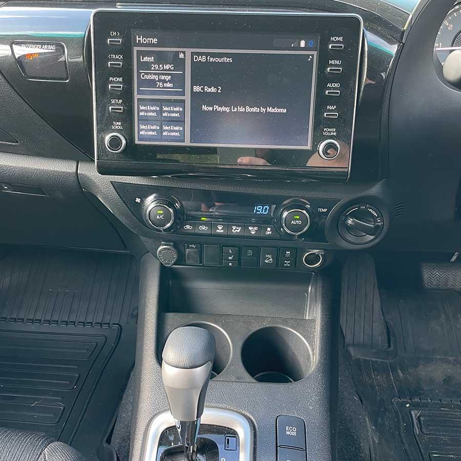 Toyota Hilux Invincible centre console